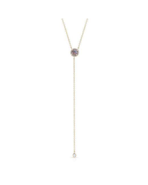 Anne Sisteron | Blue 14kt Yellow Gold Labradorite Diamond Flirt Lariat Necklace | Lyst