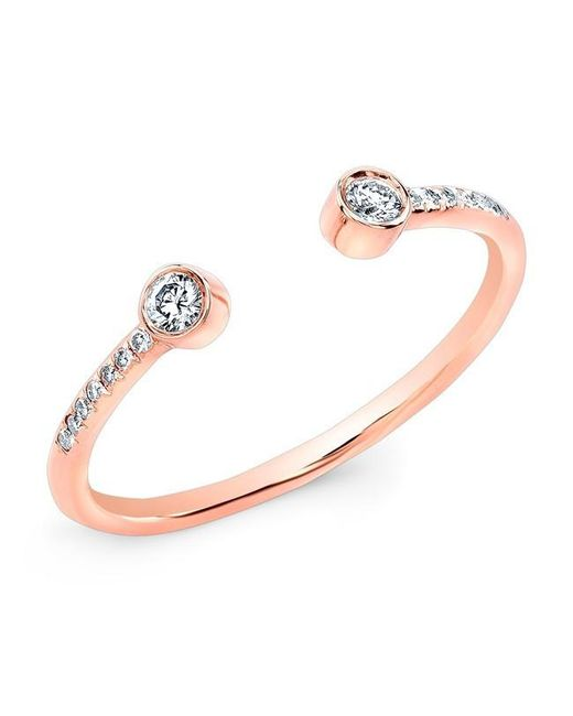 Anne Sisteron | Metallic 14kt Rose Gold Diamond Circuit Ring | Lyst