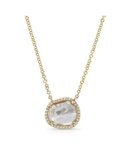 Anne Sisteron   Metallic 14kt Yellow Gold Elegant Diamond Slice Necklace   Lyst