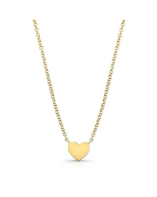 Anne Sisteron | Metallic 14kt Yellow Gold Heart Necklace | Lyst