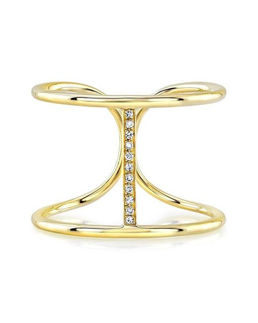 Anne Sisteron | Metallic 14kt Yellow Gold Diamond Bridge Ring | Lyst