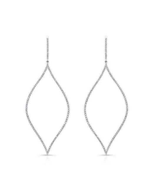 Anne Sisteron | Metallic 14kt White Gold Diamond Open Marquis Diamond Earrings | Lyst