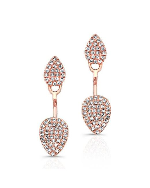 Anne Sisteron | Multicolor 14kt Rose Gold Pear Shaped Floating Earrings | Lyst