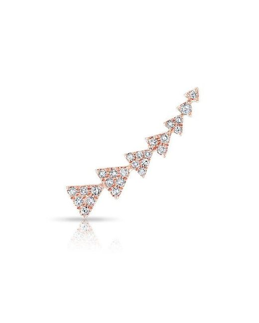 Anne Sisteron | Metallic 14kt Rose Gold Diamond Triangle Ear Climber | Lyst