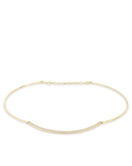 Anne Sisteron Metallic 14kt Yellow Gold Diamond Cleopatra Choker Necklace