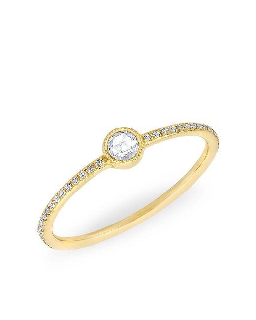 Anne Sisteron | Metallic 14kt Yellow Gold Diamond Solitaire Ring | Lyst