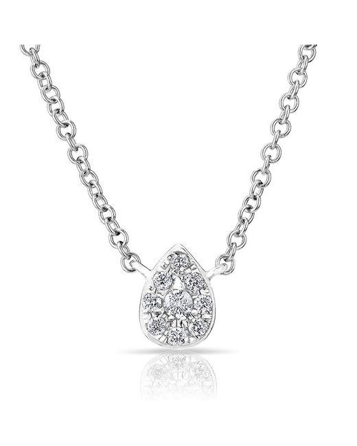 Anne Sisteron | Metallic 14kt White Diamond Mini Pear Necklace | Lyst