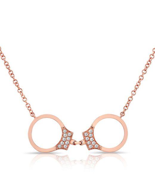 Anne Sisteron   Multicolor 14kt Rose Gold Diamond Handcuff Necklace   Lyst