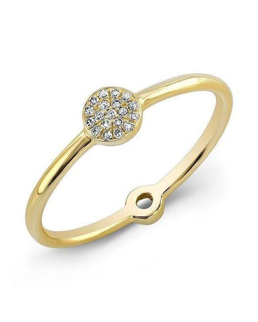 Anne Sisteron - Metallic 14kt Yellow Gold Diamond Mini Disc Ring - Lyst