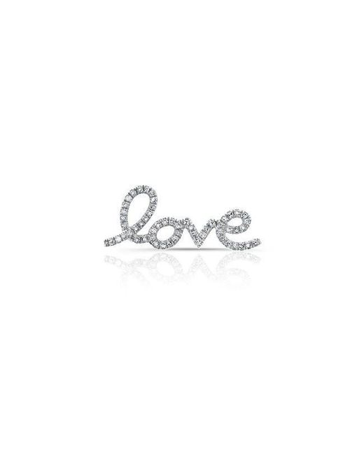 Anne Sisteron | Multicolor 14kt White Gold Diamond Love Ear Climber | Lyst