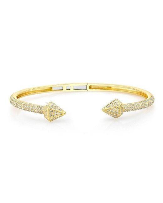 Anne Sisteron Metallic 14kt Yellow Gold Diamond Olympia Cuff