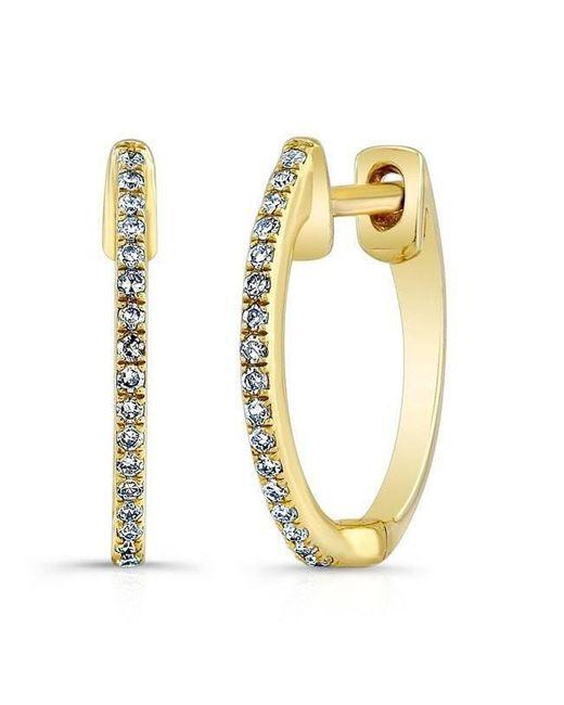 Anne Sisteron - Multicolor 14kt Yellow Gold Diamond Huggie Earrings - Lyst