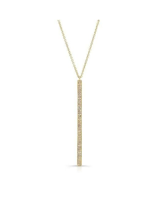 Anne Sisteron | Metallic 14kt Yellow Gold Diamond Beam Necklace | Lyst