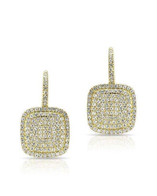 Anne Sisteron - Multicolor 14kt Yellow Gold Diamond Cushion Earrings - Lyst