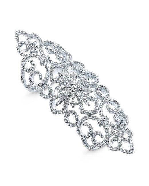 Anne Sisteron - Metallic 14kt White Gold Diamond Bourgeois Ring - Lyst