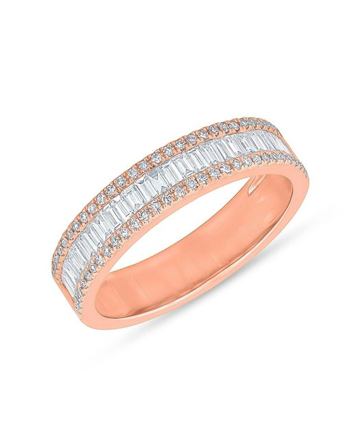 Anne Sisteron - Multicolor 14kt Rose Gold Half Baguette Diamond Kate Band Ring - Lyst