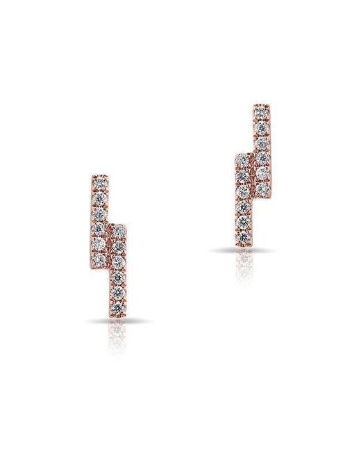 Anne Sisteron - Metallic 14kt Rose Gold Diamond Ridge Stud Earrings - Lyst