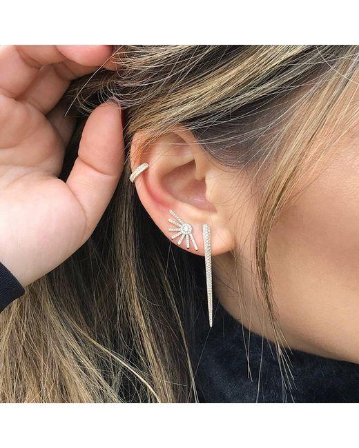Anne Sisteron Metallic 14kt Yellow Gold Diamond Large Wishbone Earrings