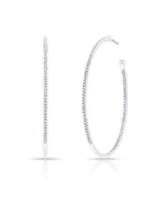Anne Sisteron - Multicolor 14kt Rose Gold Diamond Pear Medium Hoop Earrings - Lyst