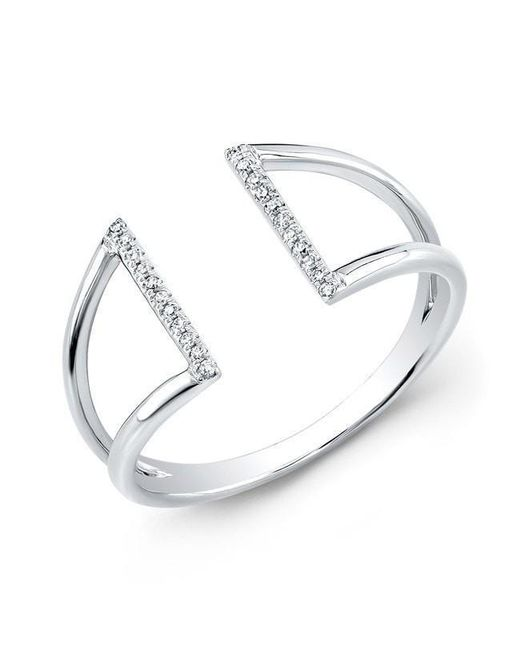 Anne Sisteron - Metallic 14kt White Gold Diamond Space Ring - Lyst