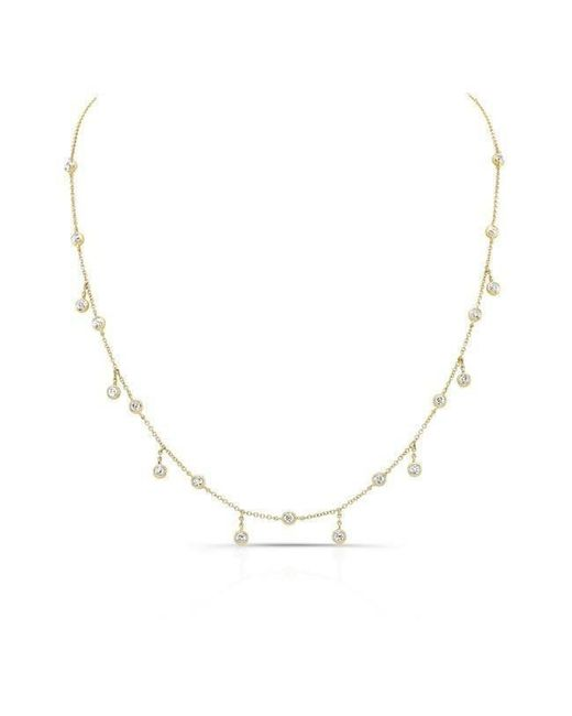Anne Sisteron - Metallic 14kt Yellow Gold Diamond Bezel Set Trickle Necklace - Lyst