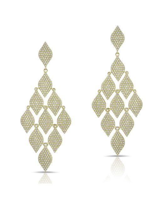 Anne Sisteron Metallic 14kt Yellow Gold Diamond Luxe Chime Earrings