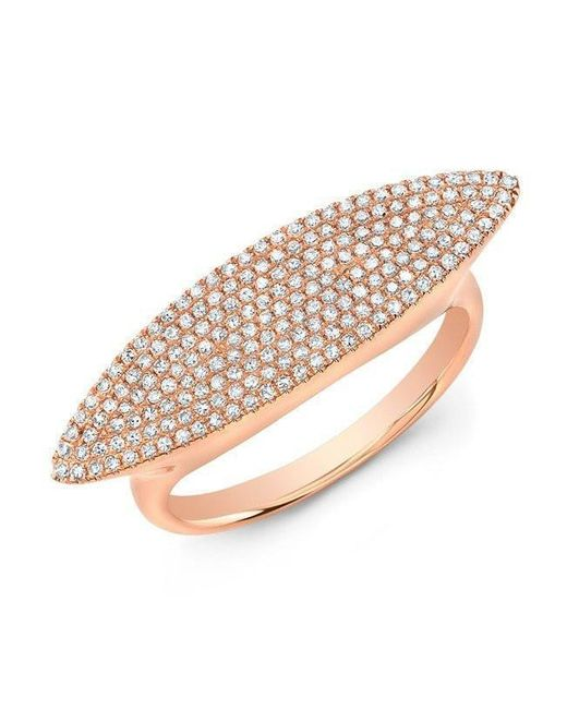 Anne Sisteron | Pink 14kt Rose Gold Diamond Capri Ring | Lyst