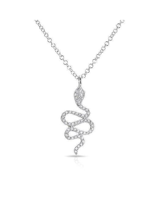 Anne Sisteron - Metallic 14kt White Gold Diamond Snake Necklace - Lyst