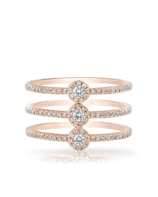 Anne Sisteron - Multicolor 14kt Rose Gold Diamond Triple Circuit Ring - Lyst