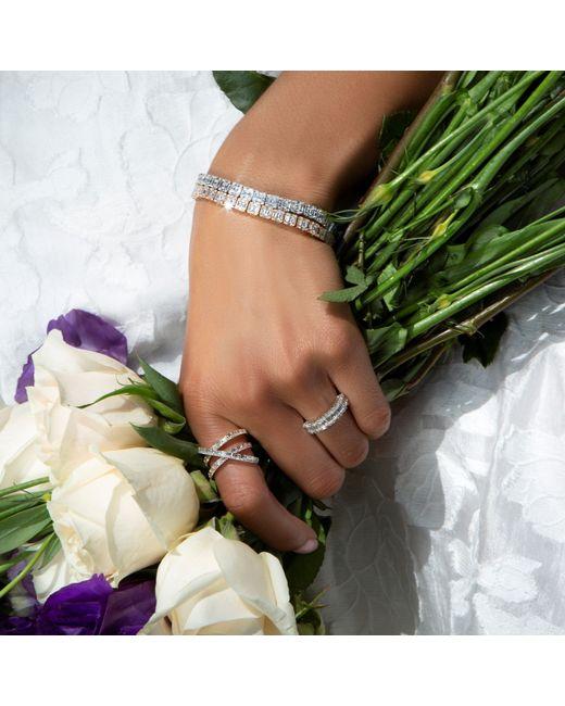 Anne Sisteron Multicolor 14kt Rose Gold Diamond Baguette Tennis Bracelet