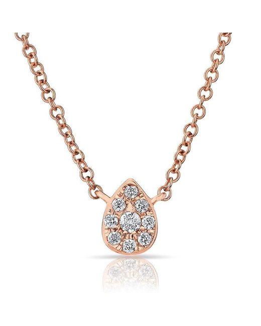 Anne Sisteron - Metallic 14kt Rose Diamond Mini Pear Necklace - Lyst