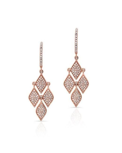 Anne Sisteron | Multicolor 14kt Rose Gold Diamond Mini Marquis Earrings | Lyst