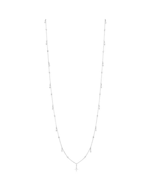 Anne Sisteron - Metallic 14kt White Gold Diamond Solitaire Drops Layering Necklace - Lyst