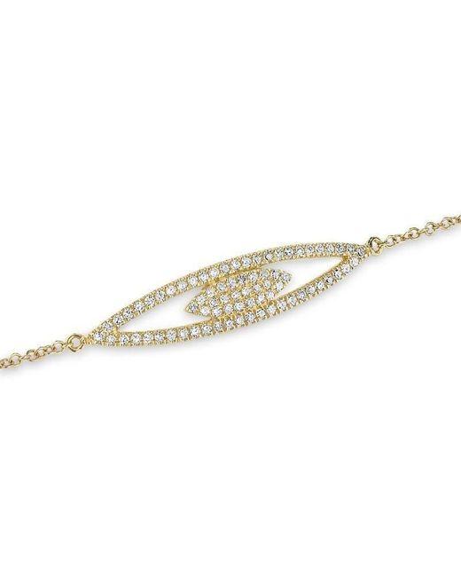 Anne Sisteron - Metallic 14kt Yellow Gold Open Double Marquis Diamond Bracelet - Lyst