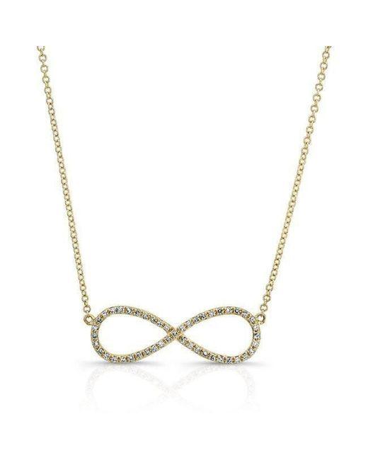 Anne Sisteron - Metallic 14kt Yellow Gold Diamond Large Infinity Necklace - Lyst