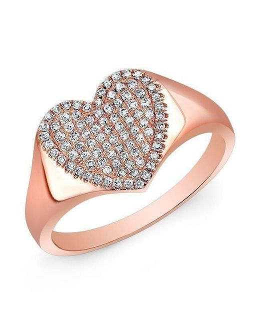 Anne Sisteron - Multicolor 14kt Rose Gold Diamond Rachel Heart Ring - Lyst