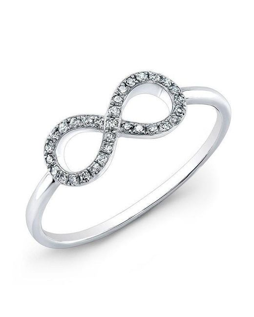 Anne Sisteron - 14kt White Gold Diamond Small Infinity Ring - Lyst