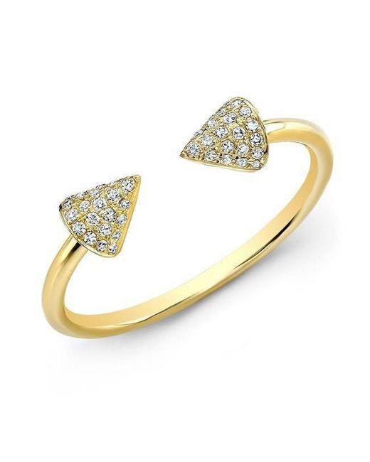 Anne Sisteron - Metallic 14kt Yellow Gold Diamond Taurus Ring - Lyst
