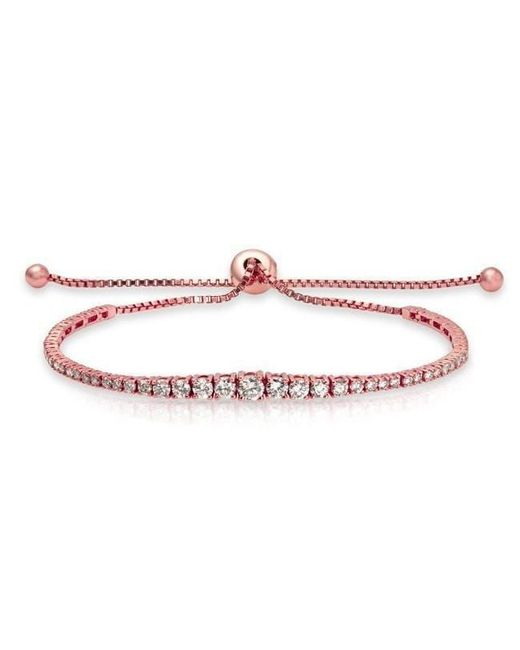 Anne Sisteron | Multicolor 14kt Rose Gold Diamond Tie Back Bracelet | Lyst