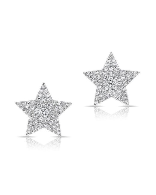 Anne Sisteron Multicolor 14kt White Gold Diamond Star Stud Earrings Lyst