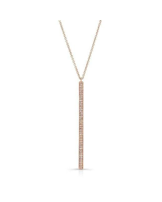 Anne Sisteron - Metallic 14kt Rose Gold Diamond Allure Necklace - Lyst
