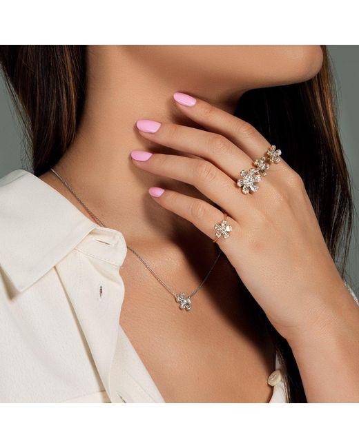 Anne Sisteron Multicolor 14kt Rose Gold Baguette Diamond Daisy Ring