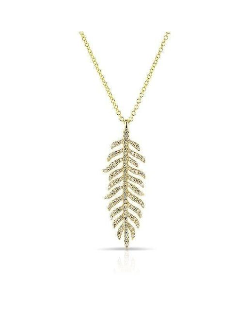 Anne Sisteron - Metallic 14kt Yellow Gold Diamond Palm Necklace - Lyst