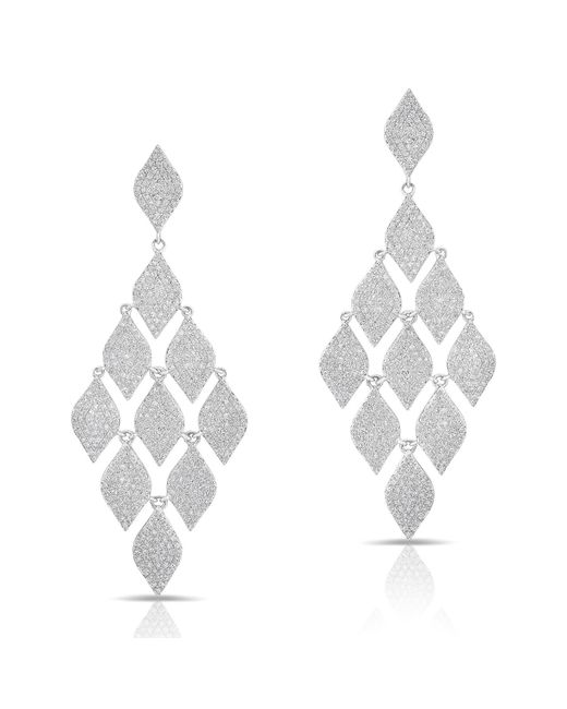 Anne Sisteron Metallic 14kt White Gold Diamond Luxe Chime Earrings
