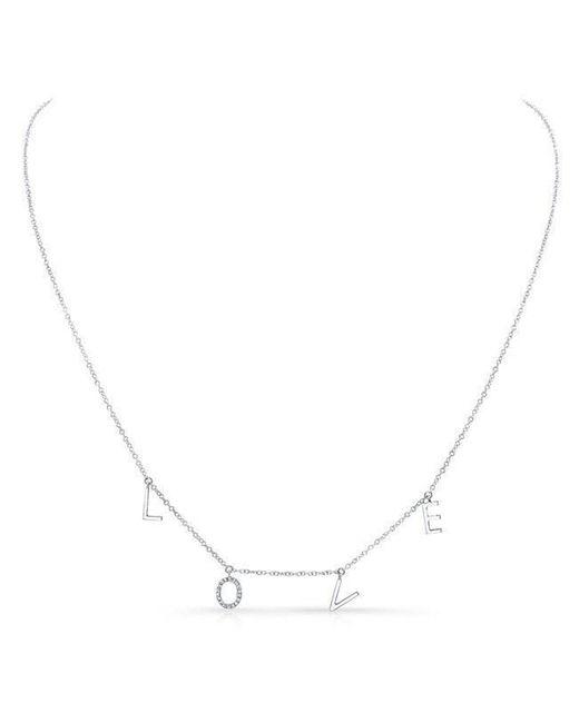 Anne Sisteron - Metallic 14kt White Gold Love Necklace -diamond O - Lyst