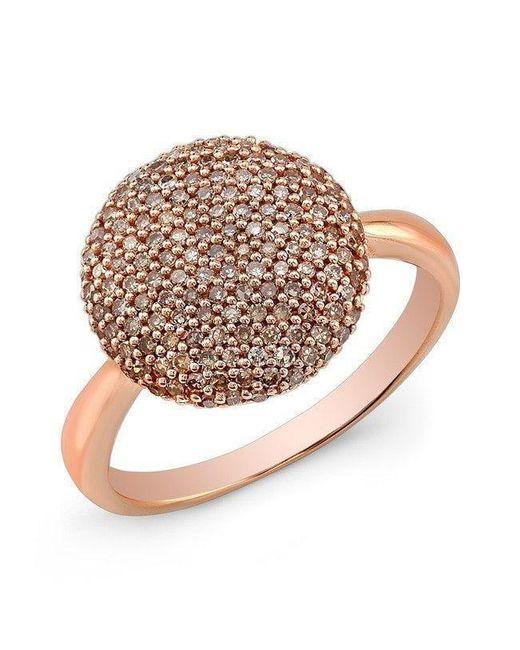 Anne Sisteron - Pink 14kt Rose Gold Diamond Bouton Ring - Lyst