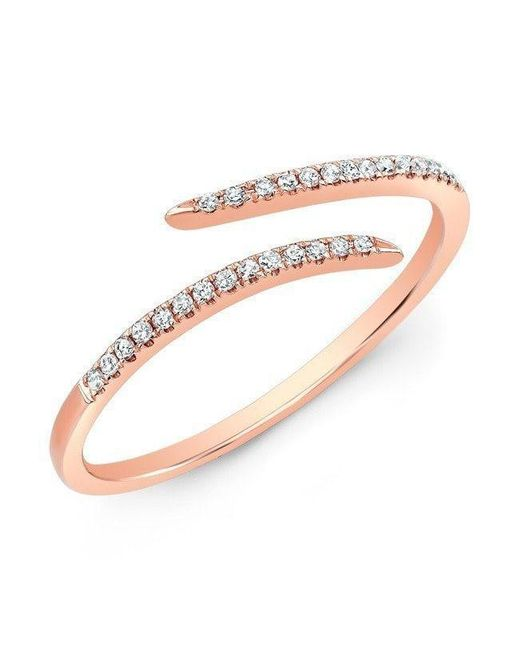 Anne Sisteron - Metallic 14kt Rose Gold Diamond Open Embrace Ring - Lyst