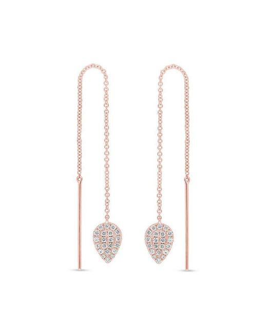 Anne Sisteron - Metallic 14kt Rose Gold Diamond Monaco Threader Earrings - Lyst