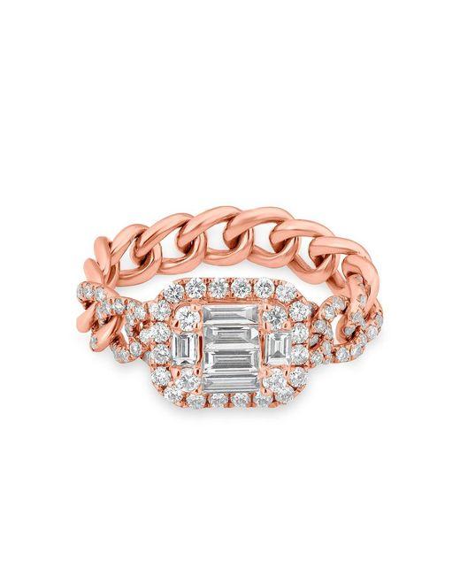 Anne Sisteron Multicolor 14kt Rose Gold Baguette Diamond Nikolina Ring
