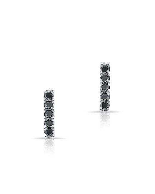 Anne Sisteron - Metallic 14kt White Gold Black Diamond Mini Bar Stud Earrings - Lyst